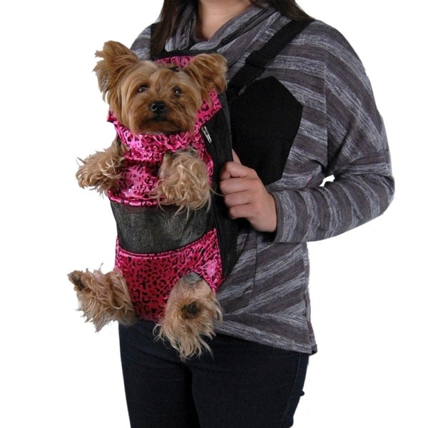 Insten Leopard Front Backpack Pet Carrier