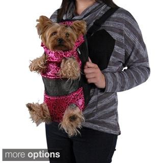 Leopard Front Backpack Pet Carrier