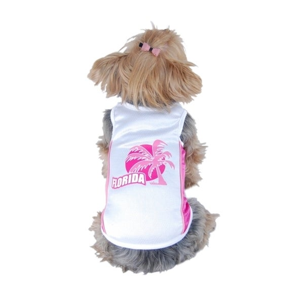 Insten Pet Dog Puppy Summer Clothes Florida Sporty Cotton Mesh Tee T-Shirt