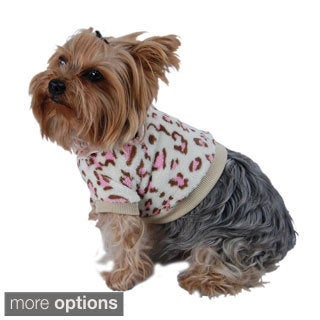 Insten Pet Dog Puppy Apparel Clothes Fleece Leopard Pullover Shirt T-shirt