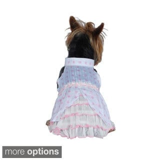 Insten Pet Clothes Polka Dots Party Dresses for Puppy dog pet princess dress