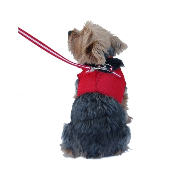 Insten Color Comfort Soft Pet Dog Puppy Leash Lead With Mesh Harness Girth Vest
