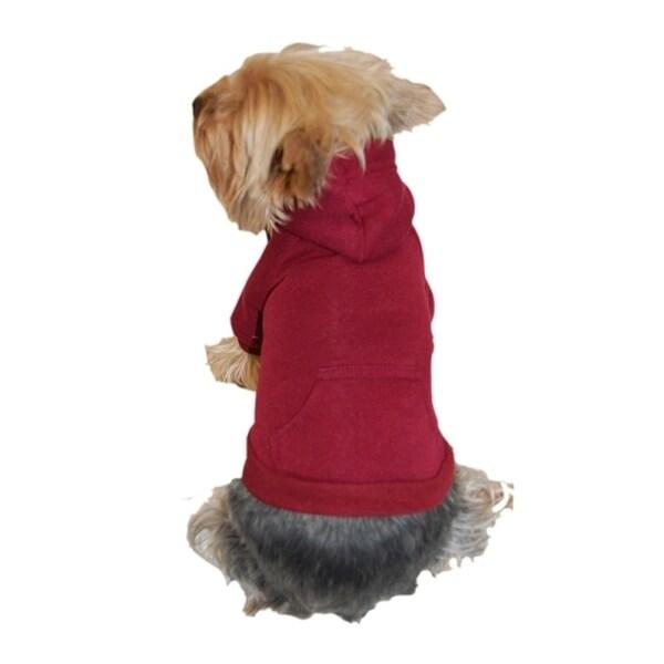 Insten Dog Pet Puppy Plain Sweatshirt Hoodie Shirt Jacket Coat