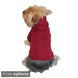 Insten Dog Pet Puppy Plain Sweatshirt Hoodie Shirt Jacket Coat