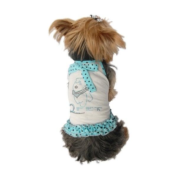 Insten Cute Pet Dog Puppy Polka Dot Dress Trim Sundress Skirt