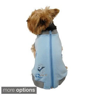 Zippered Dog Sweatshirt for Small/Medium Dogs