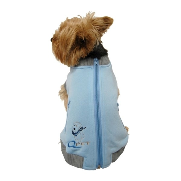 Insten Zippered Dog Sweatshirt for Small/Medium Dogs