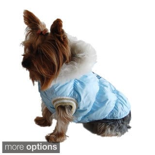 Winter bubble jacket for pet dog puppy hooded clothes warm coat