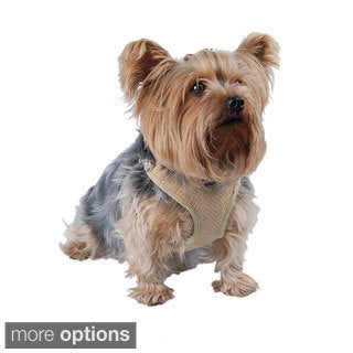 Insten Comfort Soft Pet Dog Puppy Leash Lead With Mesh Harness Girth Vest