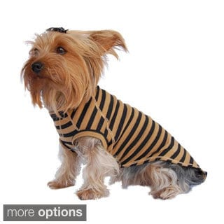 Insten Soft Clothes For Pet Puppy Dogs Popular Stripe T-Shirt Tee Comfort
