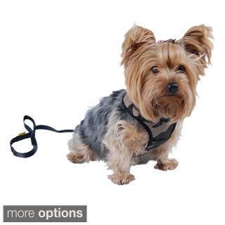 Insten Pet Dog Puppy Poly Cotton Harness with Leash Chain Strap Rope Clothes Apparel