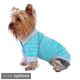 Pet Puppy Dog Clothes Stripe Cotton Polo T Shirt Apparel