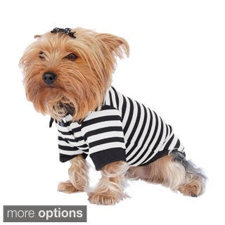 Insten Pet Puppy Dog Clothes Stripe Cotton Polo T Shirt Apparel