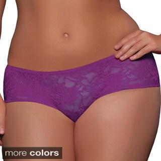 Seven Til Midnight Women's Plus Size Ruffle-back Lace Boyshorts