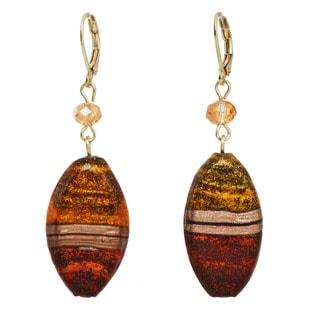 Red Glass Beaded Earrings