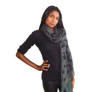 Black Cat Cotton Fashion Scarf