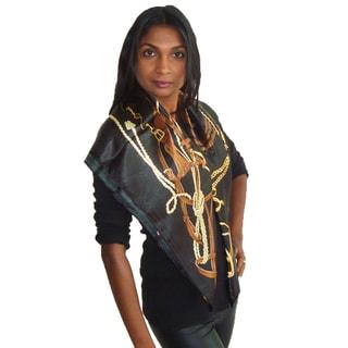 American Equestrian Style Black Fashion Scarf