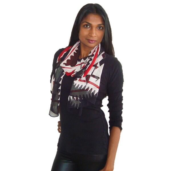 Printed Tribal Design Fashion Scarf