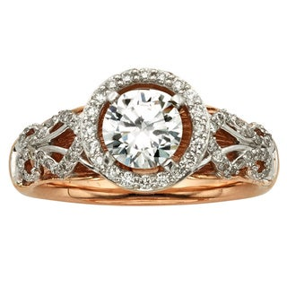 Sofia 14k Rose Gold 1 2/5ct TDW Round-cut Vintage Diamond Ring (H-I, I1-I2)