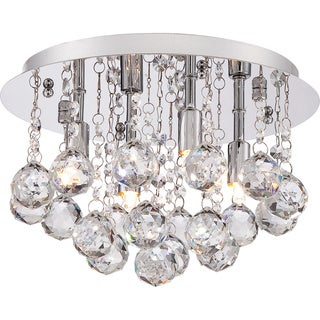 Bordeaux 4-light Polished Chrome Small Flush Mount