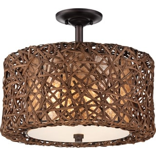 Ruckman 3-light Palladian Bronze Large Semi Flush Mount