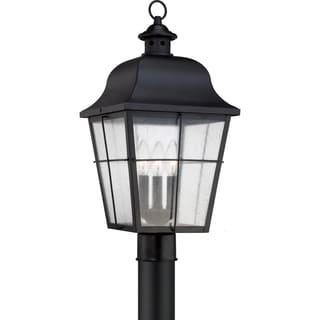 Millhouse Mystic Black Large 3-light Post Lantern