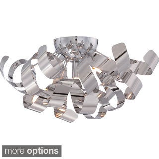 Ribbons 4-light Polished Chrome Large Flush Mount