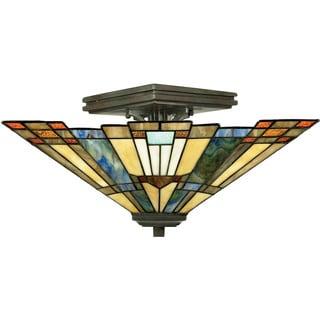 Inglenook 2-light Valiant Bronze Semi-flush Mount