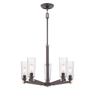 Uptown East Village 5-light Western Bronze Chandelier