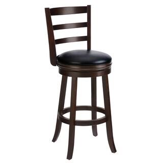 Cappuccino Solid Wood Swivel Barstool Set Of 2