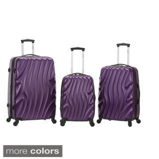Rockland Wave Lightweight 3-piece Expandable Hardside Spinner Luggage Set