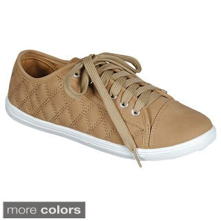 Via Pinky Women's 'Win-62' Quilted Lace-up Sneakers