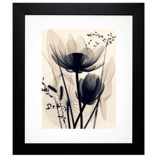 McMillan 'Lotus and Grasses' Framed Artwork - Black/Grey