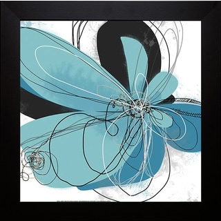 Weiss 'Azul Poetry 2 inches' Framed Artwork