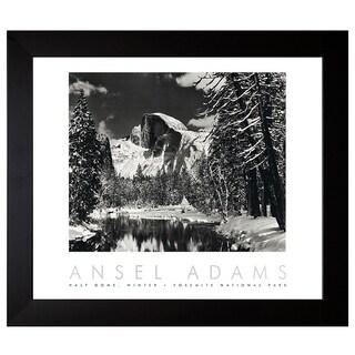 Adams, Ansel 'Half Dome, Merced River, Winter' Framed Artwork