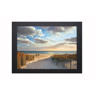 Pollera 'Sunset Beach' Framed Artwork