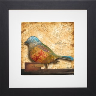 Patricia Pinto 'Bird of Collage I' Framed Artwork