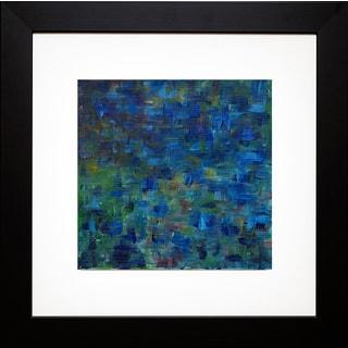 Everett Spruill 'Mixed Emotions in Blue II' Framed Artwork