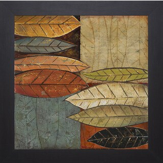 Patricia Pinto 'Tall Leaves Square I' Framed Artwork