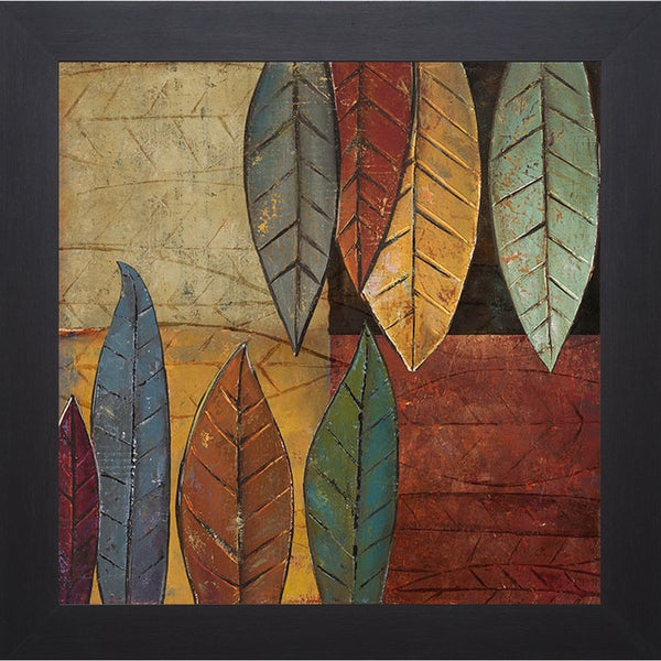 Patricia Pinto 'Tall Leaves Square II' Framed Artwork