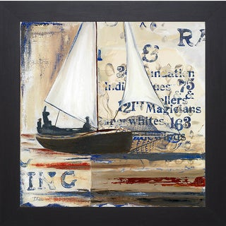 Patricia Pinto 'Blue Sailing Race I ' Framed Artwork