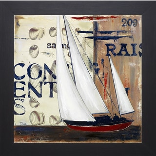 Patricia Pinto 'Blue Sailing Race II' Framed Artwork