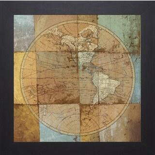 Elizabeth Medley 'Single Map' Framed Artwork