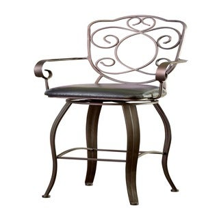 Powell Bronze with Muted Copper Scroll-back Bar Stool