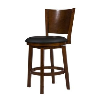 Powell Big & Tall Solid Back Wood Barstool
