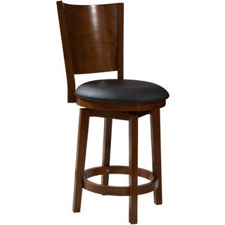 Powell Big & Tall Solid Back Wood Counter Stool
