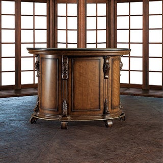 Oh! Home Boardwalk Yorktown Cherry Traditional Bar with Black Granite Top (Ships in 2 cartons)