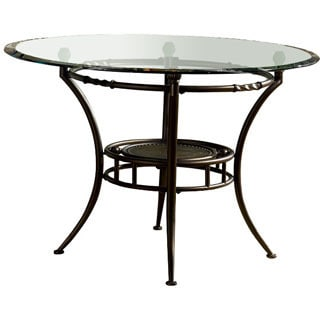 Powell Basil Antique Brown Steel Dining Table Pedestal (Glass Top Sold Separately)