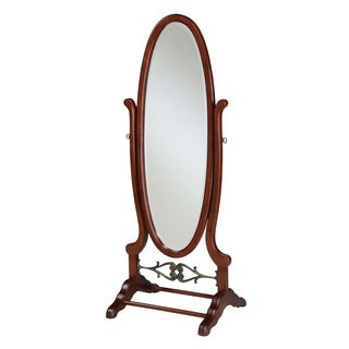 Powell Heirloom Cherry Finish Cheval Mirror