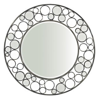 Powell 'Reflections' Glossy Metal Circle-frame Round Mirror